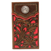 Nocona Belt N5426104 Floral Inlay Rodeo Wallet, Red - One Size - $48.25