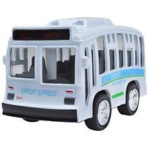 PANDA SUPERSTORE Car Alloy Double Retro Bus Back Car Model Sound Lights Toy
