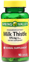 Spring Valley Milk Thistle Extract Capsules 175mg 90ct Exp 06/24 - $8.99