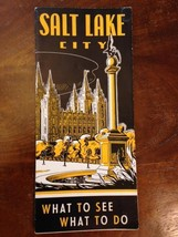 "Vintage 1939 Salt Lake City Travel Brochure, ""WHAT TO SEE, WHAT TO DO""__... - $14.24"