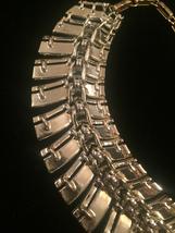 Vintage 60s Segmented Gold Spine Choker Necklace image 6