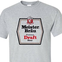 Meister Brau T-shirt classic 1970s beer gray cotton blend retro graphic tee image 2