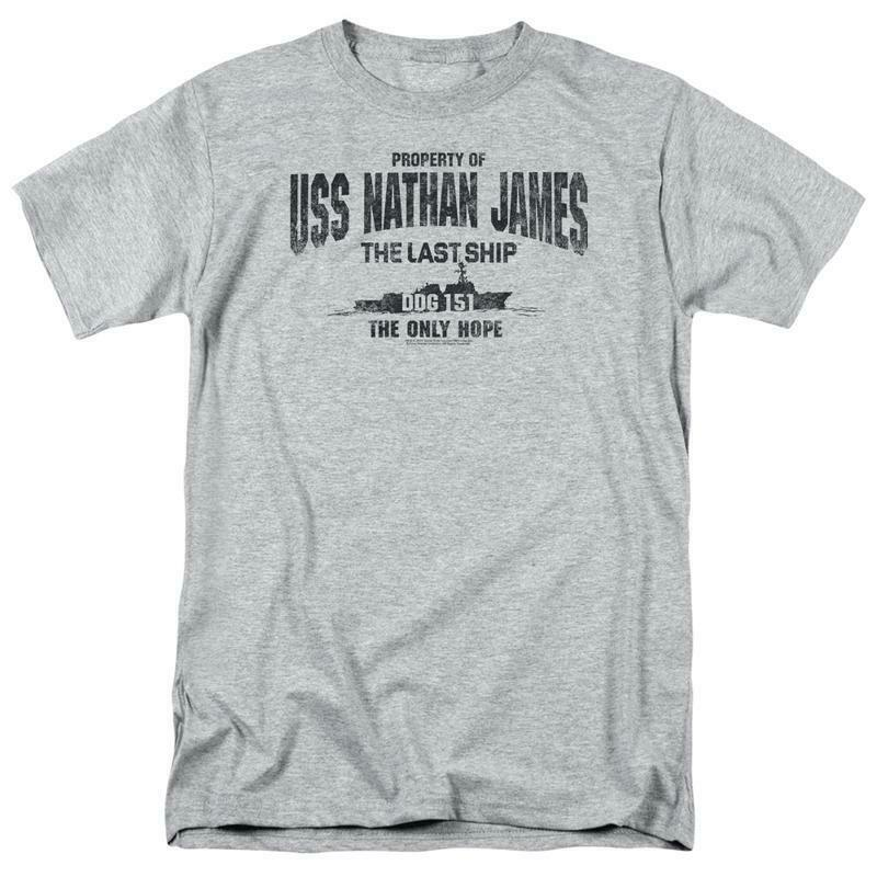 LAST SHIP USS NATHAN JAMES MENS REGULAR FIT T-SHIRT TV SHOW TNT165