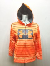 Under Armour Hoodie Sweatshirt Orange Stripe Youth Large image 2