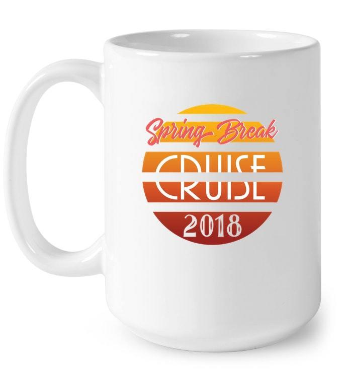 Spring Break Cruise 2018 Retro Gift Coffee Mug