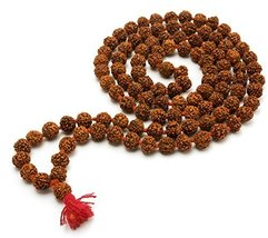 Ankita Gemstones 5 Face Rudraksha Mala, Mukhi Mala,Natural Bead Mala Sta... - $19.00