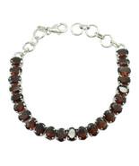 handsome Garnet 925 Sterling Silver Red Bracelet genuine jaipur US gift - $59.39
