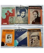 Vintage Sheet Music Love Songs Classic 1930s Lot of 6 Songs - $27.89