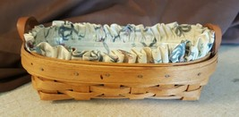Longaberger 1994 Small Oval CRACKER BASKET With Fabric Liner & Protector - $14.00