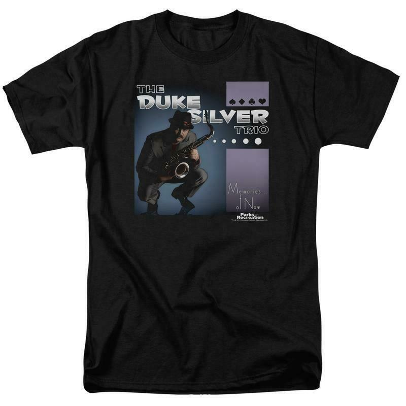 The Duke Silver Trio t-shirt Parks and Recreation Comedy graphic tee NBC759