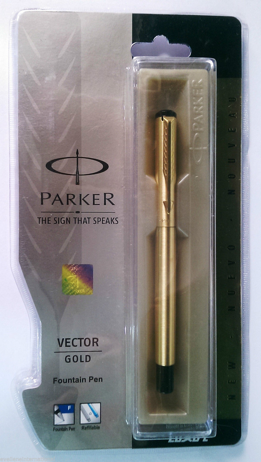 Parker Vector Gold  Fountain Pen   With Gold Clip