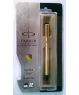 Parker Vector Gold  Fountain Pen   With Gold Clip - $20.63