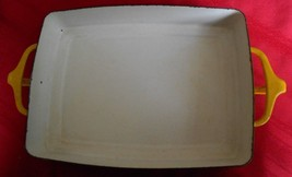 "Dansk Yellow Baking Serving Two Handle Dish 10""x7""x1 1/2"" - $20.95"
