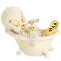Lenox Scrub-A-Dub Tweety Figurine Bubble Bath Tub Rubber Ducky Looney Tunes NEW - $107.91