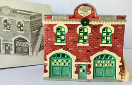 Dept 56 Original Snowhouse Fire Station Lighted Building 1987 50911 Snow... - $38.69