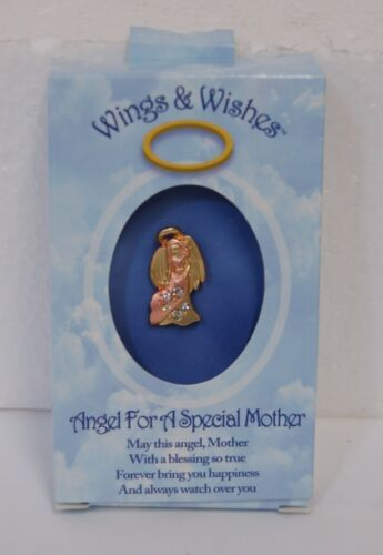 DM Merchandising Wings Wishes Special Mother Angel Gold Colored Pink Angel