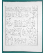 GODS Hercules in Fights Snake Lion Prometheus Hydra - 1828 Antique Print - $14.40