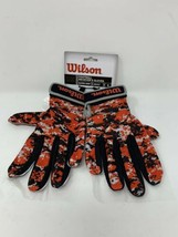 New Wilson Football Receiver Gloves Super Grip Adult Small WTF9305ORS NWT - $19.79