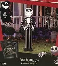 Halloween Inflatable Jack Skellington Nightmare before Xmas 5' Tall - $102.38