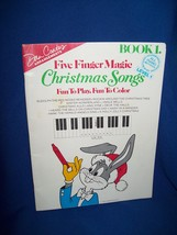 Warner Bros. Five Finger Magic Christmas Songs Piano Music  Book Level 1... - $7.50