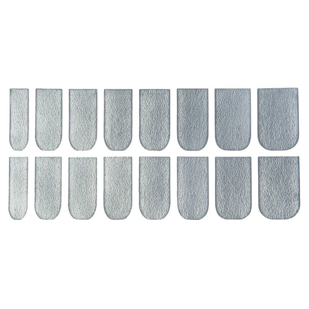 Primary image for 16pcs Solid Color Nail Art Flash Powder Texture(SILVER)