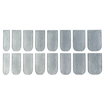 16pcs Solid Color Nail Art Flash Powder Texture(SILVER) - $6.82