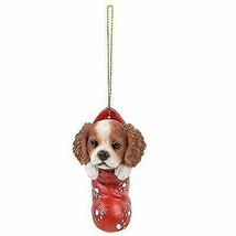 King Charles Spaniel In Holiday Sock Decorative Holiday Festive Christma... - $12.09