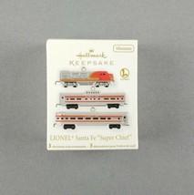 Hallmark 2011 Keepsake Miniature Ornament Set Lionel Train Santa Fe Super Chief - $29.70