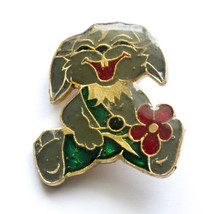 RUSSIAN Funny BUNNY Rabbit Hare with flower Badge Kid Child Soviet Child... - $5.85