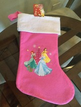 NWT Disney Princess Pink Stocking Belle Cinderella Ariel New With Tags!!! - $6.92