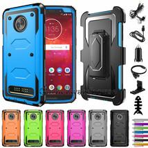 For Motorola Moto Z3 / Moto Z3 Play Hard Case Hybrid Tough Phone Cover A... - $24.00