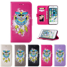 OWL Pattern PU Leather Wallet Stand Case Cover For iPhone X 5 5S SE 6 S 7 8 Plus - $5.24