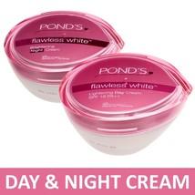 Pond' s Flawless White Lightening Day Cream SPF18 & Brightening Night Cr... - $13.50