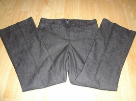 Women's Gap Sz 8A Hadley Fit Charcoal Grey Business Pants Denim Look - $15.79