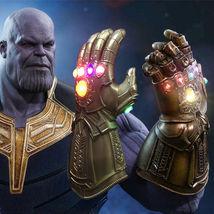 Thanos Glowing Gemstone Lights Infinity War Gauntlet Glove Avengers Cosp... - $38.64