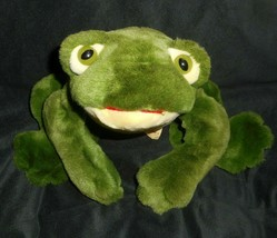 "14"" Ty Vintage 1991 Freddie Green Frog Stuffed Animal Plush Toy Makes Sound - $22.44"