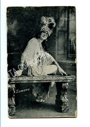 Primary image for PIN-UP GIRL-ARCADE CARD-1920-ZUMARA-WOMAN SITTING FR/G