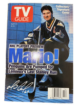 Collector's Signature Cover April 1997 TV Guide Mario Lemieux Pittsburgh... - $17.09