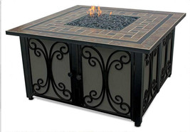 "Uniflame lp Fire Pit 41"" Slate Mantel 30,000 btu Propane Patio Deck Fire... - $659.00"