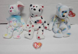 TY Beanie Baby Bears Glory 1997 Cheery 2000 and Kissme 2001 Lot of 3 - $15.00