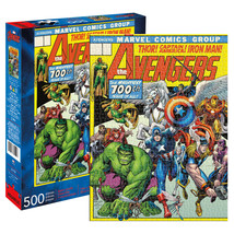 Avengers 100th Issue Comic Cover 500 Piece Puzzle Yellow - $24.98