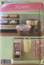 Simplicity 4631 Nursery Storage Organizers  - $4.99