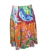 LRL Ralph Lauren 8 Skirt Multi-Color OrangeYellow Green Pink Blue A-Line... - $29.45