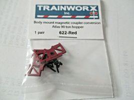 Trainworx Stock #622-Red Body Mount Magnetic Coupler See Description for Info. image 3