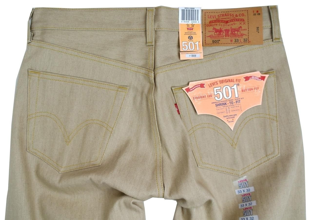 NEW NWT LEVI'S 501 MEN'S ORIGINAL FIT STRAIGHT LEG JEANS BUTTON FLY 501-0988