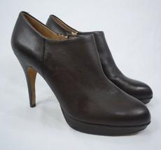 Vince Camuto Elvin Bootie Brown Leather Platform Heels Sz 10 New No Box - $64.99