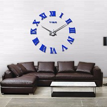 FASHION in THE CITY Mirror Surface 3D DIY Wall Clocks Modern Design Room... - $21.64