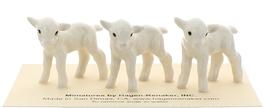 Hagen-Renaker Miniature Ceramic Lamb Figurine Baby White Set of 3 image 3