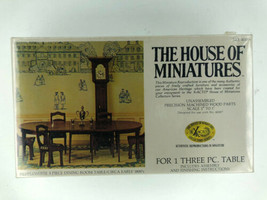 The House of Miniatures Hepplewhite 3 Pc Dining Room Table 1800s Sealed X-ACTO - $14.99