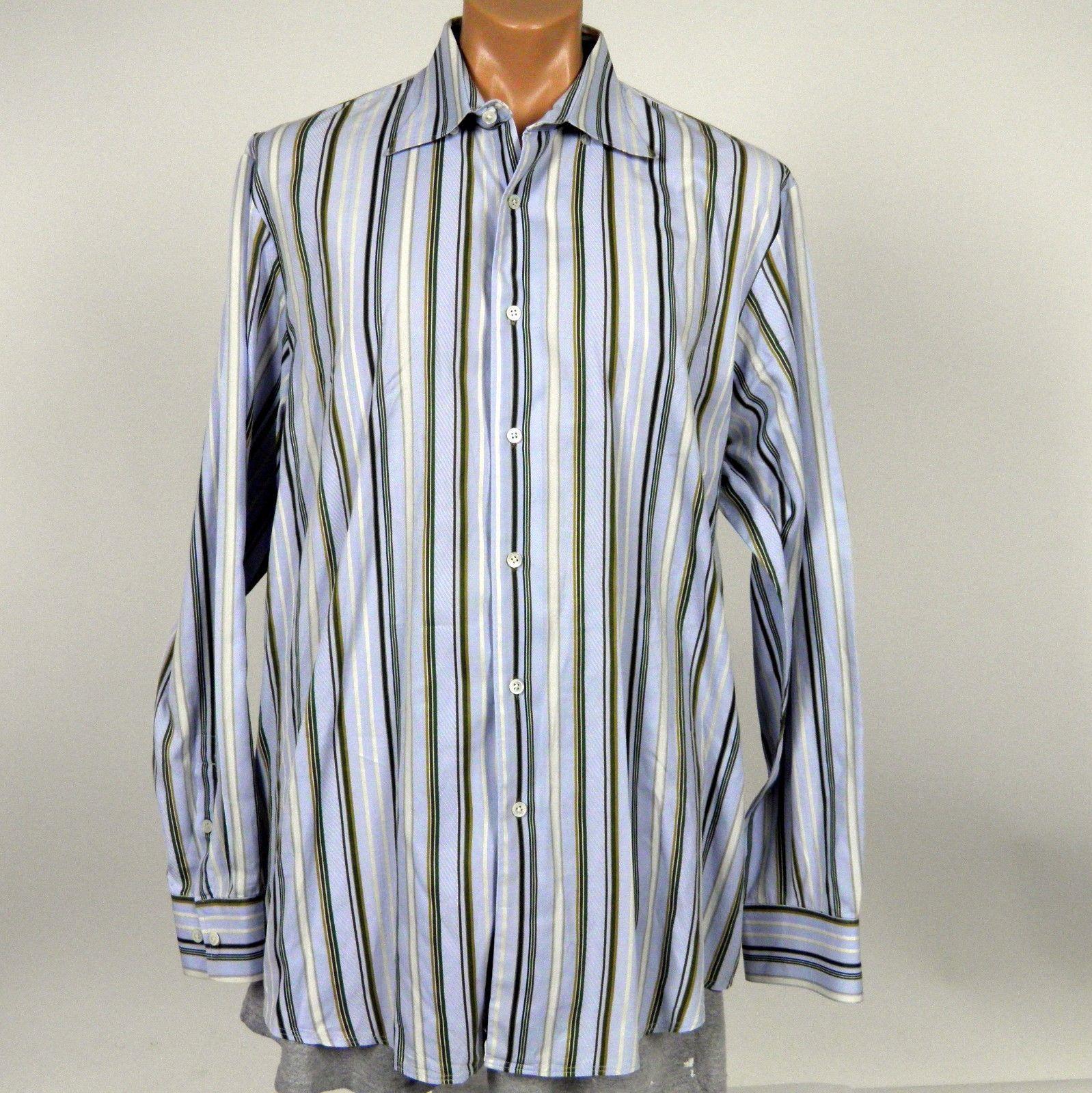 f18d4f8bb54 Tommy Bahama Indigo Palms LS Shirt Mens XL Multi Color Stripes 100% Cotton